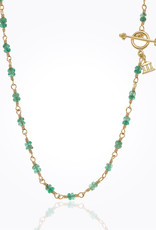 """TEMPLE ST CLAIR Karina Emerald Necklace 18"""""""