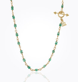 TEMPLE ST CLAIR Karina Emerald Necklace 18""