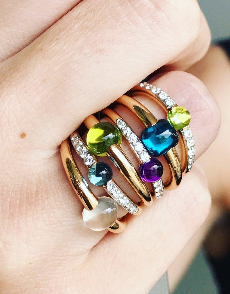 POMELLATO Amethyst Diamond M'ama Non M'ama Ring