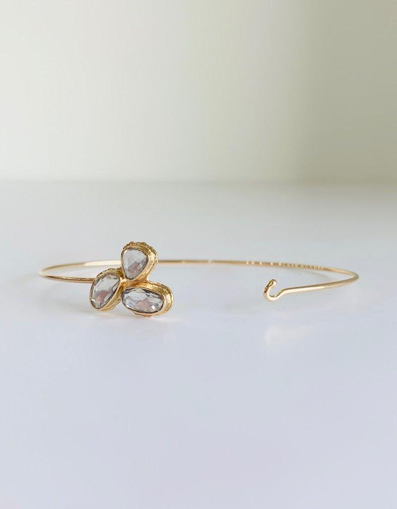JAMIE JOSEPH White Sapphire Cluster Bracelet