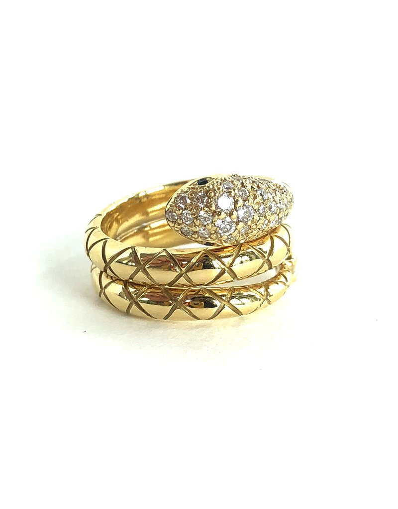 TEMPLE ST CLAIR Pave Diamond Serpent Ring