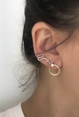 SYDNEY EVAN Small Nail Hoop Diamond Earrings
