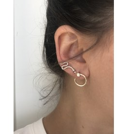 SYDNEY EVAN Small Nail Hoop Diamond Earrings
