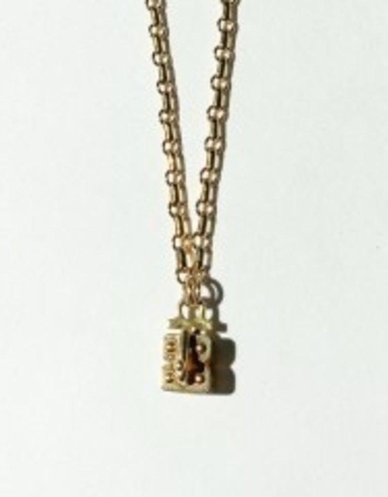 "SENNOD Link Vignette Chain - Gold 24"""