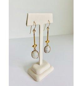 SENNOD White Sapphire w/ Tullia Earring - Gold