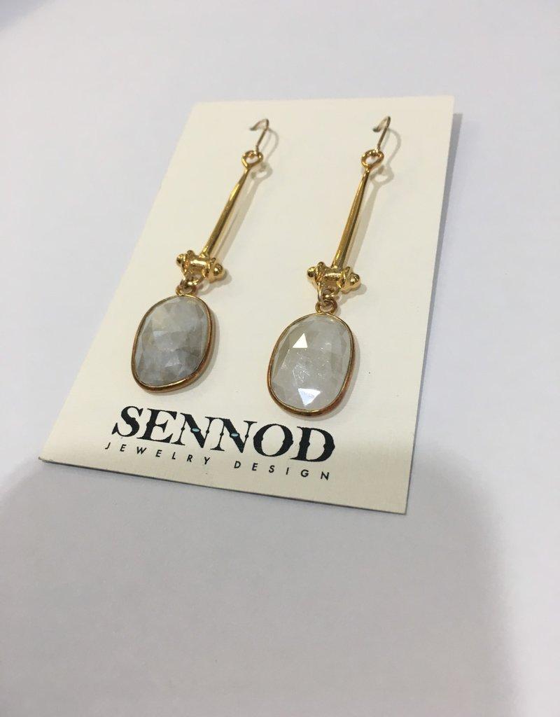 SENNOD White Sapphire with Tullia Earrings