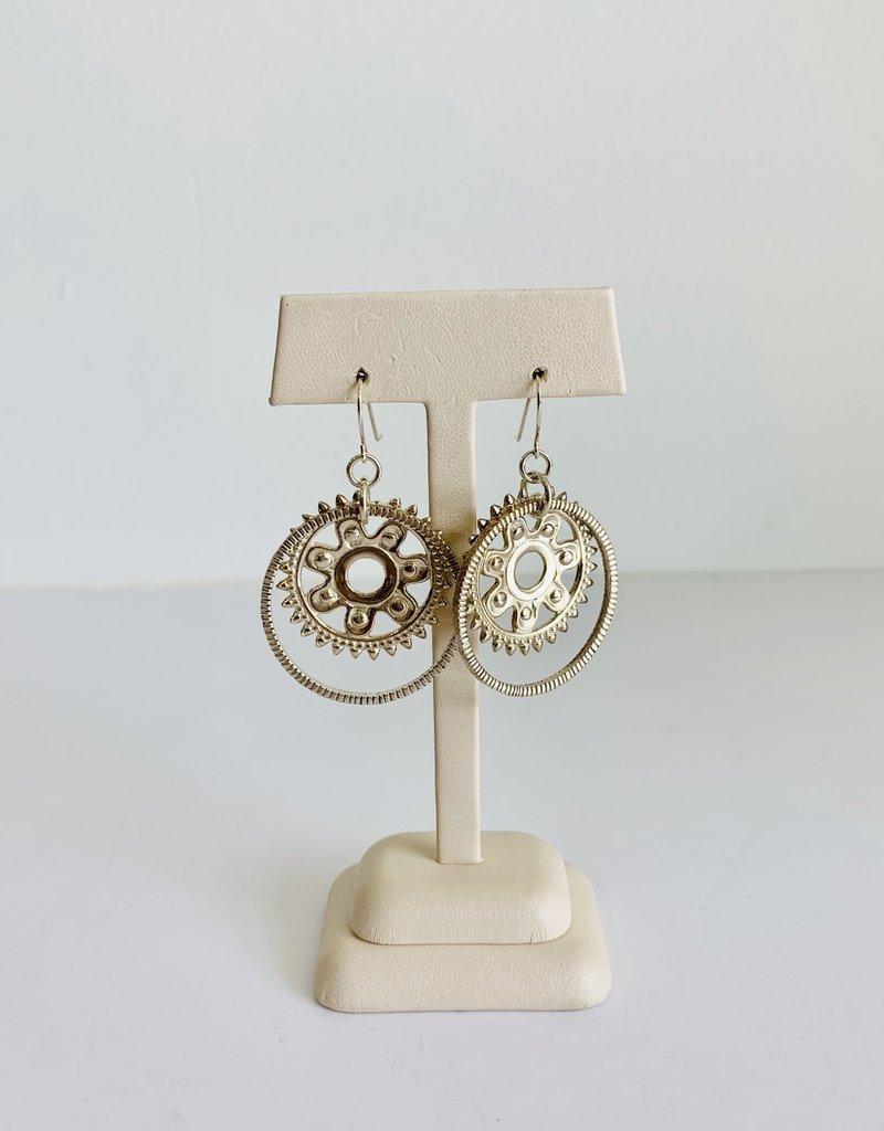 SENNOD Sprocket Earrings - Sterling