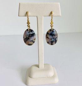 SENNOD Amethyst Sage Chalcedony Post Earrings
