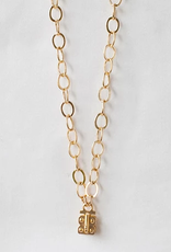 SENNOD Flat Cable Vignette Chain - Gold 34""