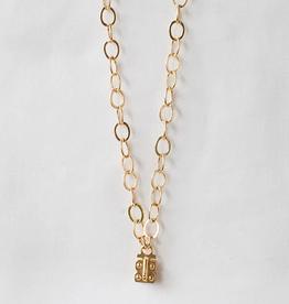 "SENNOD Flat Cable Vignette Chain - Gold 34"""