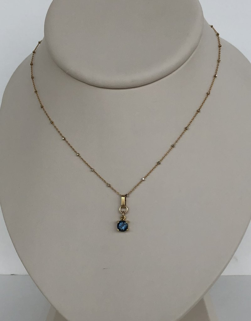 "SENNOD 18"" Blue Quartz Necklace"