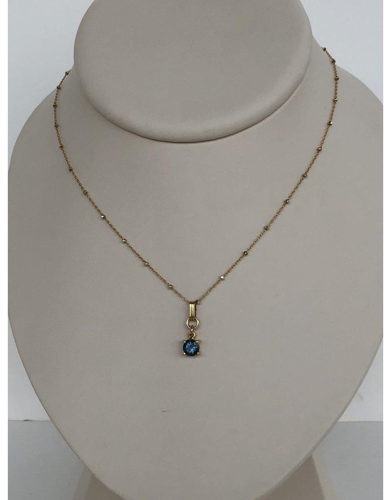 "SENNOD Blue Quartz Neck (16-18"" Gold)"