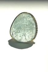 LAUREN K Aquamarine Diva Ring