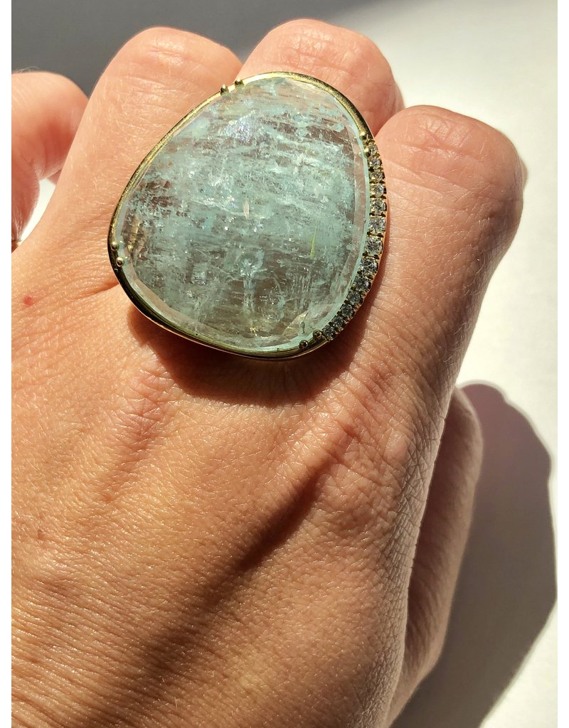 LAUREN K Aquamarine Diva Ring