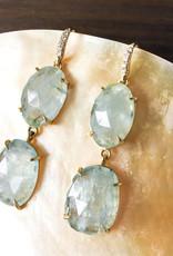 LAUREN K Aquamarine Joyce Earrings