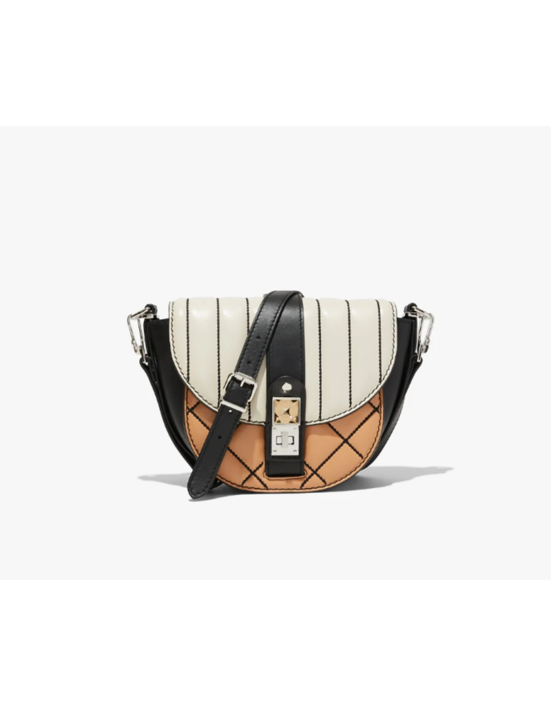 PROENZA SCHOULER PS11 Small Saddle Quilted - Clay, Black, Butter Rum