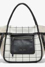 PROENZA SCHOULER Inside Out Plaid Tote - Ecru, Black, Optic White