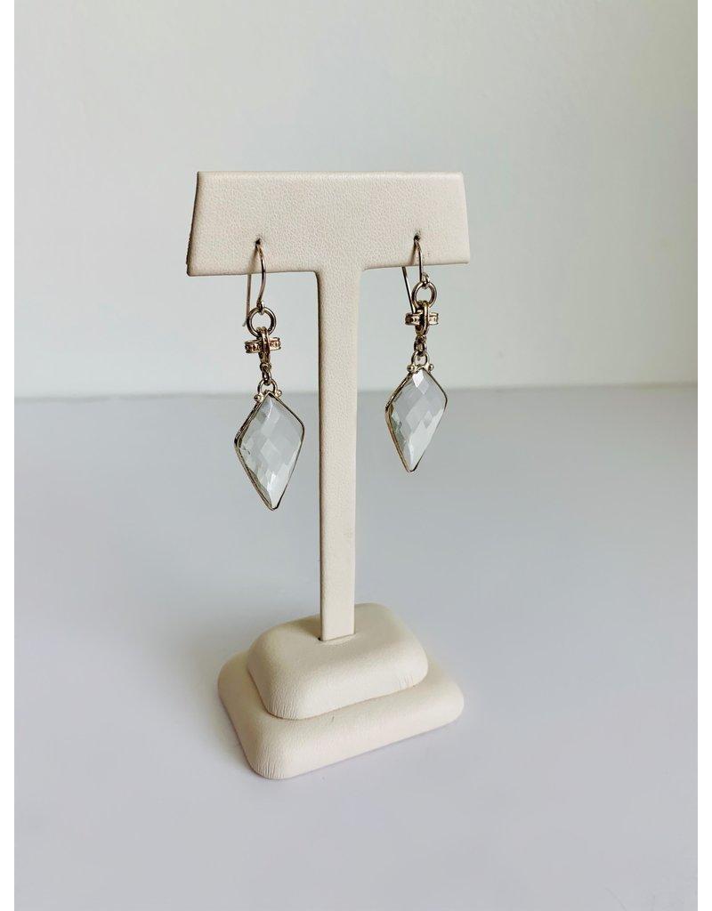SENNOD Crystal Quartz Kite Sterling Earrings