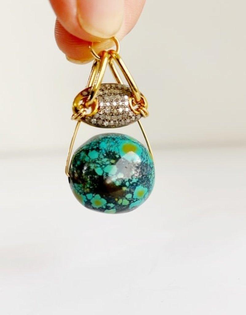 SENNOD Turquoise with Diamonds Two Tone Vignette