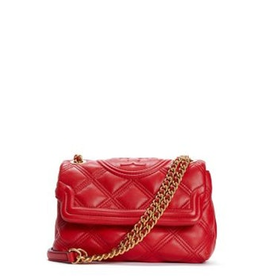 TORY BURCH Fleming Soft Small Convertible Shoulder Bag - Brilliant Red