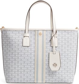 TORY BURCH Gemini Link Canvas Small Tote - New Ivory