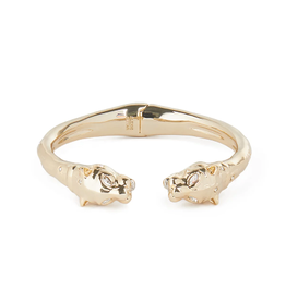 ALEXIS BITTAR Face to Face Panther Hinge Bracelet - Gold