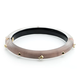ALEXIS BITTAR Golden Studded Hinge Bracelet - Rose Grey