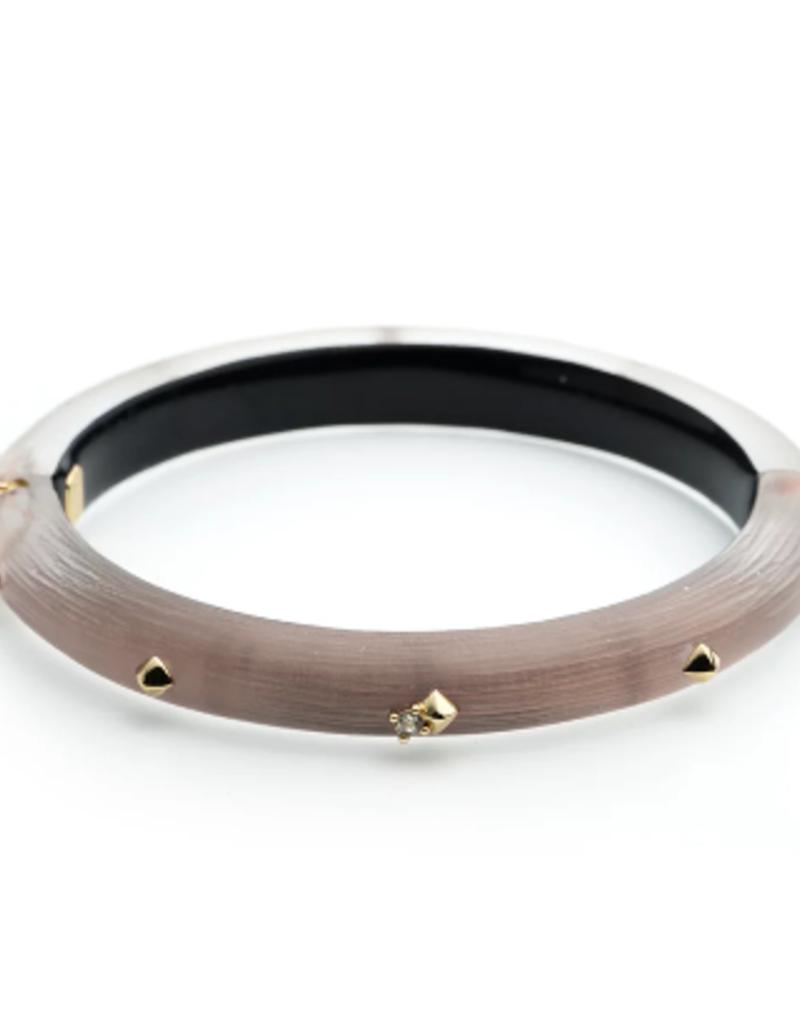 ALEXIS BITTAR Golden Studded Hinge Bracelet - Rose Grey
