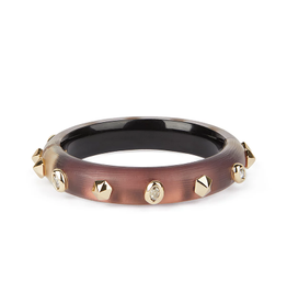 ALEXIS BITTAR Stone Studded Small Hinge Bracelet - Met Red