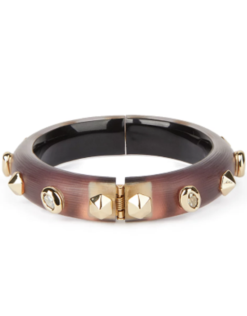 ALEXIS BITTAR Stone Studded Small Hinge Bracelet - Met Red