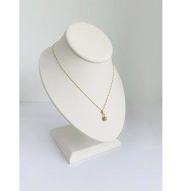 "SENNOD Remy Diamond Ball Gold Necklace 16"" -18"""