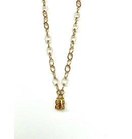 "SENNOD Flat Cable Vignette Chain - Gold 30"""