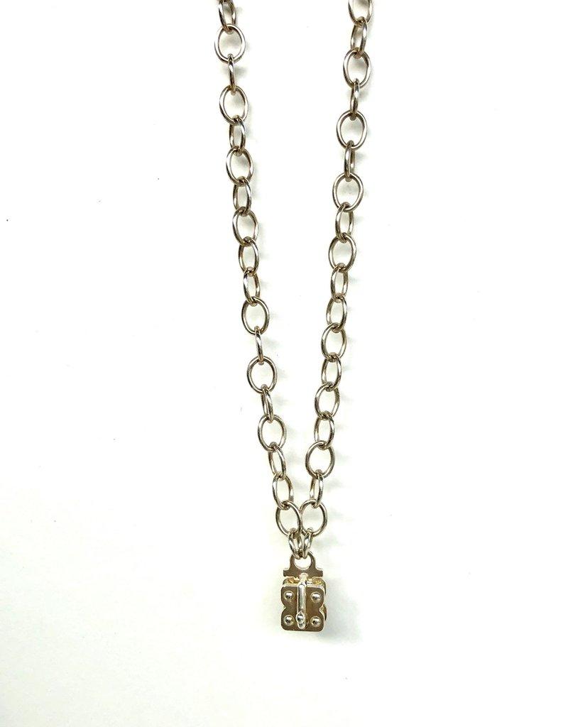 "SENNOD Flat Cable Vignette Chain - Sterling 18"""