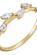 LAUREN FINE JEWELRY Diamond Leaf Ring