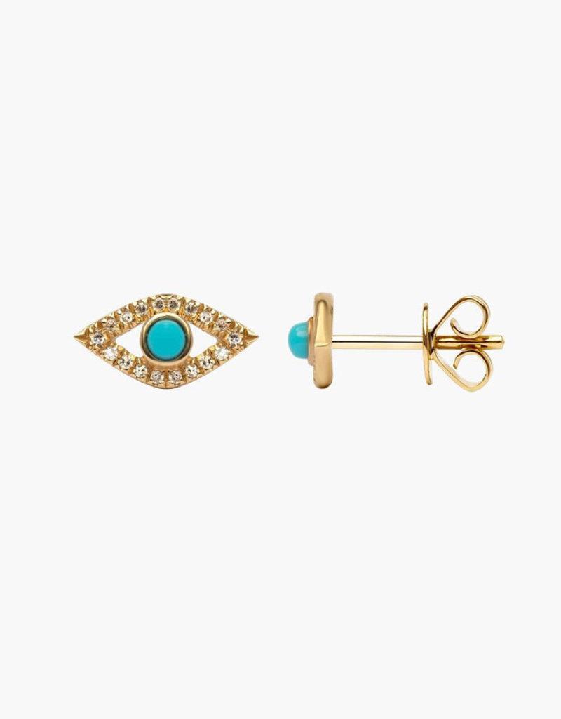 LAUREN FINE JEWELRY Turquoise Evil Eye Studs