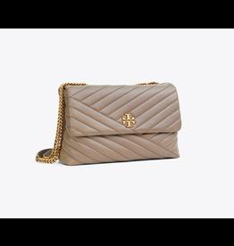 TORY BURCH Kira Chevron Convertible Shoulder Bag - Classic Taupe