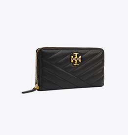 TORY BURCH Kira Chevron Zip Continental Wallet - Black