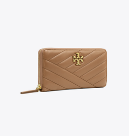 TORY BURCH Kira Chevron Zip Continental Wallet - Classic Taupe