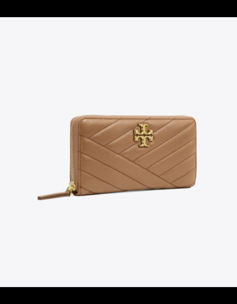 TORY BURCH Kira Chevron Zip Continental Wallet - Classic Taupe