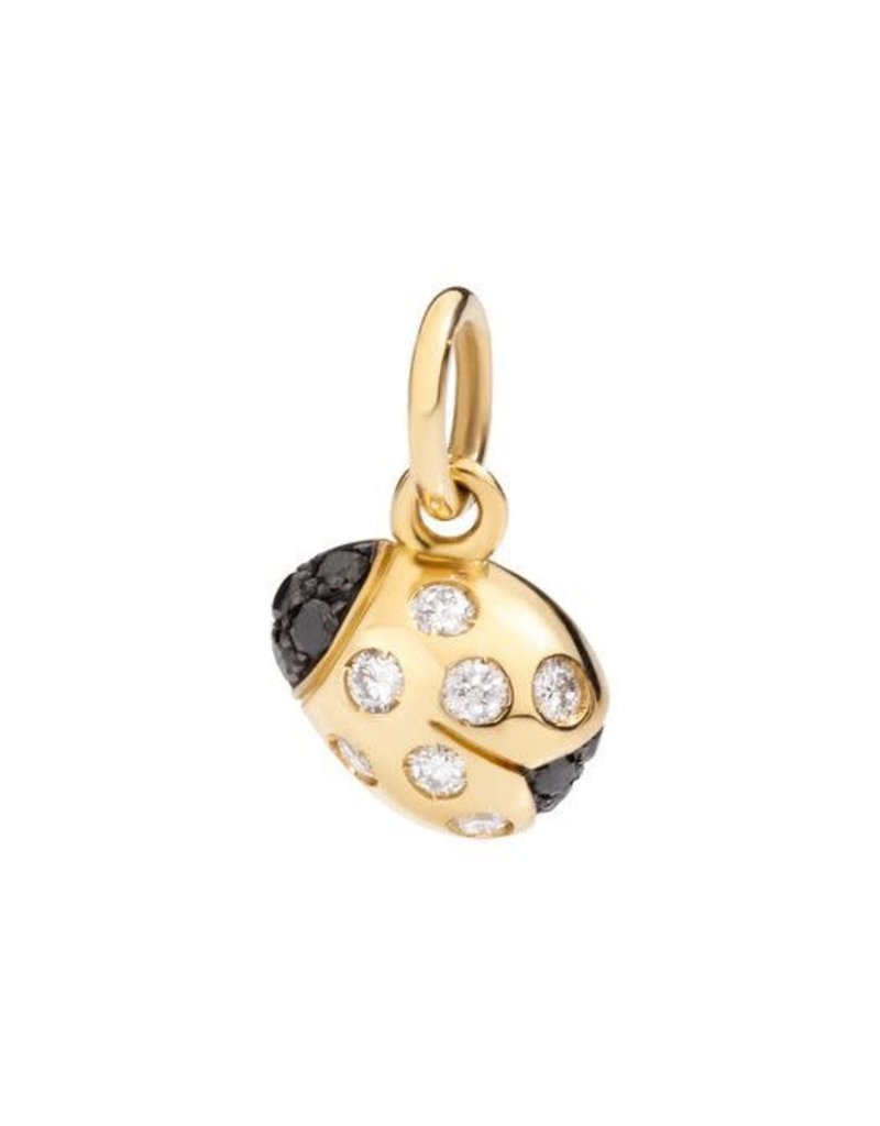 DODO Ladybug with Black and White Diamonds