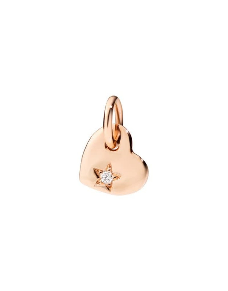 DODO Rose Gold Heart with Diamond Charm