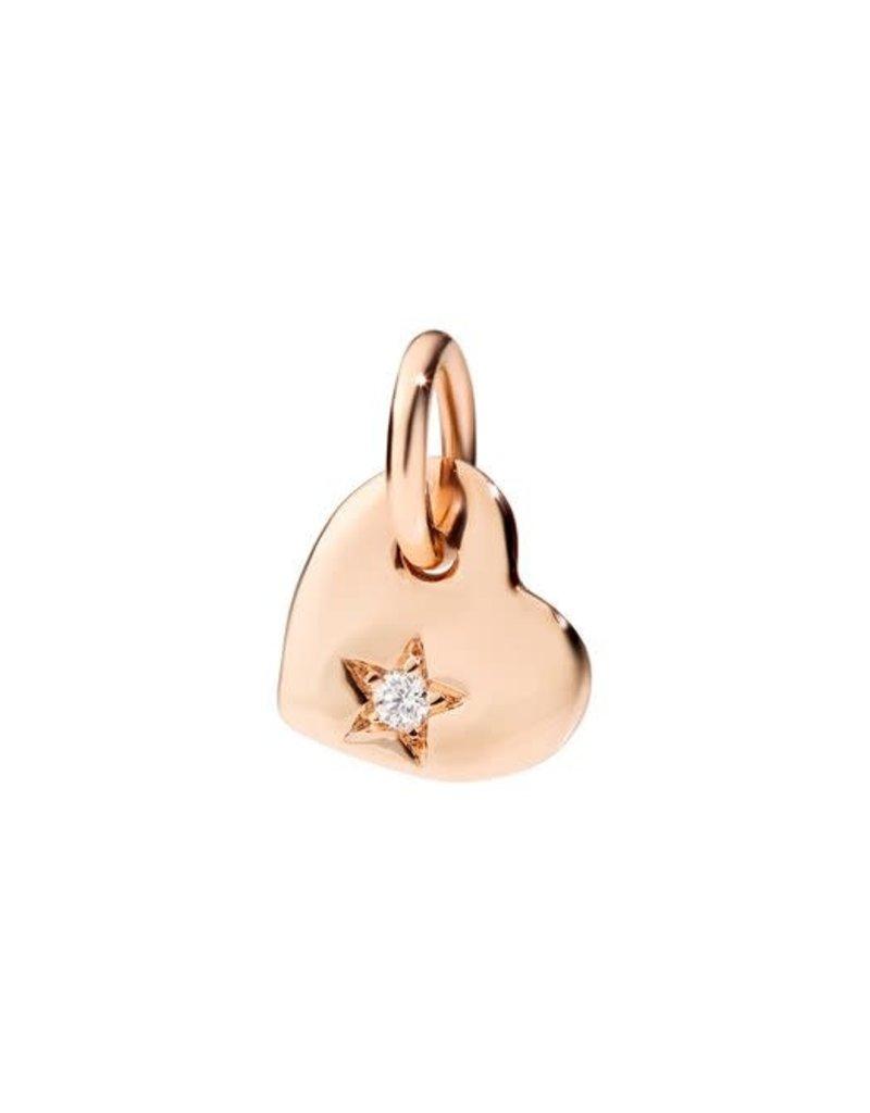 DODO Rose Gold Heart with Diamond Charm