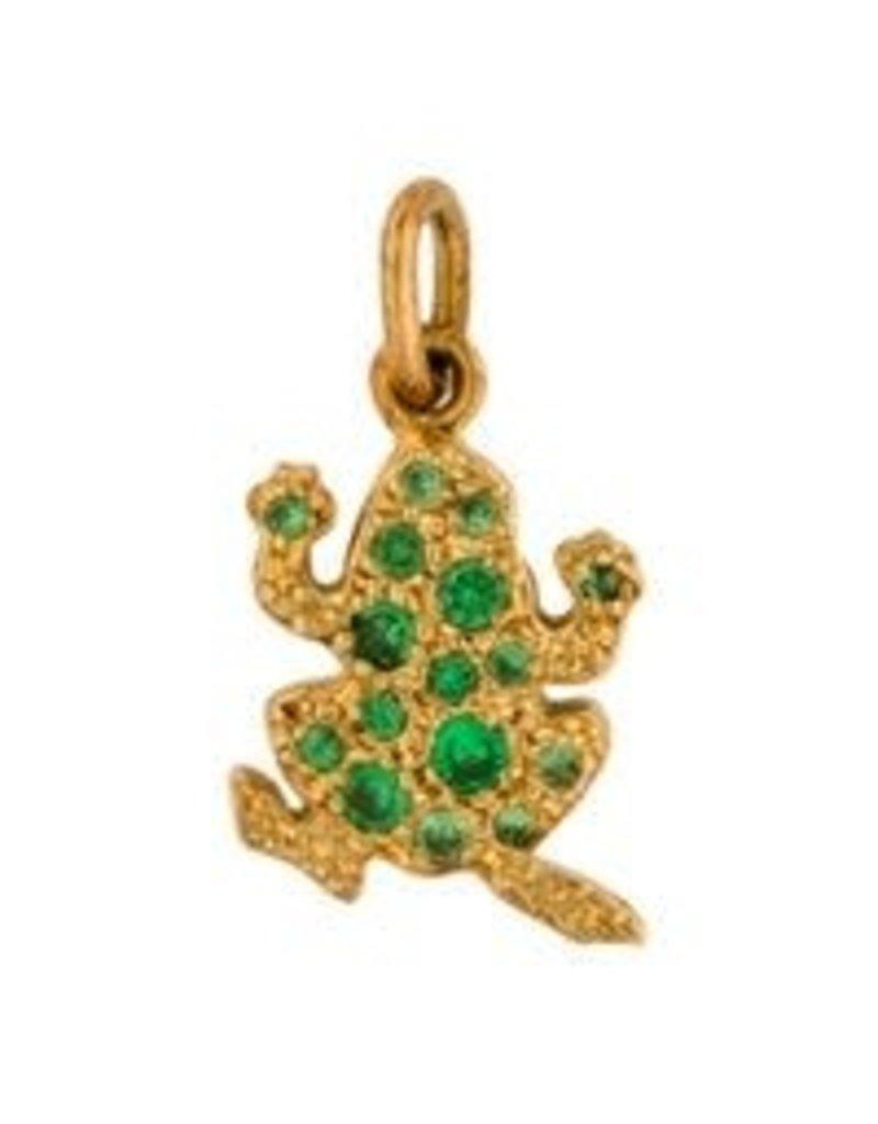 DODO Tsavorite Frog Charm