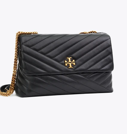 TORY BURCH Kira Chevron Convertible Shoulder Bag - Black
