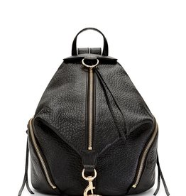 REBECCA MINKOFF Julian Backpack - Pebbled Black Leather