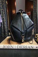 REBECCA MINKOFF Julian Backpack - Pebbled Black Leather