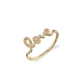 SYDNEY EVAN Diamond Love Ring - Size 5 1/2