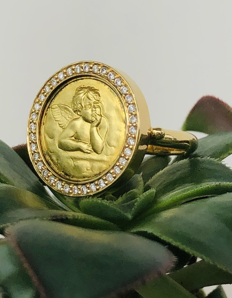 TEMPLE ST CLAIR Pave Angel Ring Large