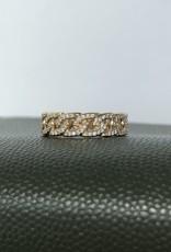 LAUREN FINE JEWELRY Diamond Pave Link Ring 1/4 CTW