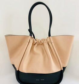 PROENZA SCHOULER XL Ruched Tote - Color Block (Nude/Black)